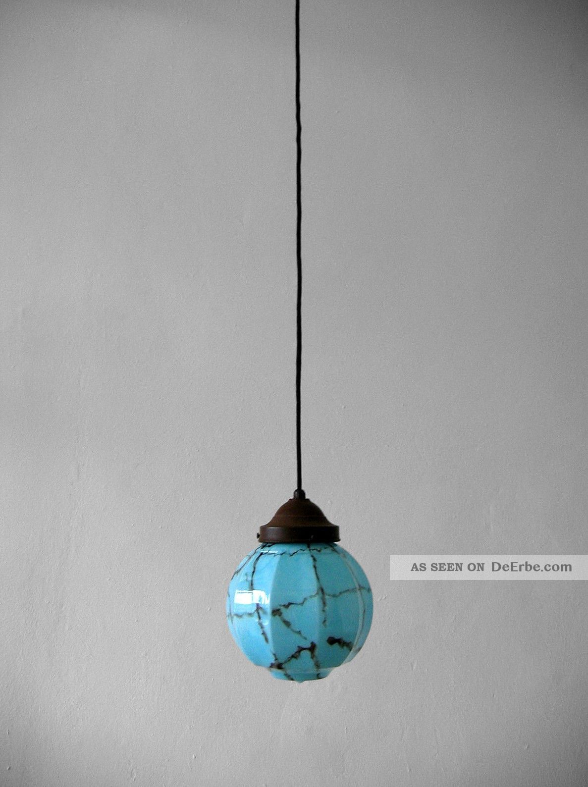 art d co kugel pendelleuchte blau bauhaus jugendstil. Black Bedroom Furniture Sets. Home Design Ideas