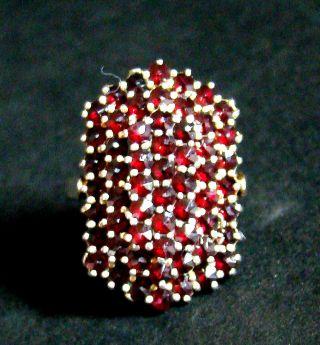 Ring Mit Granat Exklusiv & Massiv Silber Designklassiker Top & Rare Bild