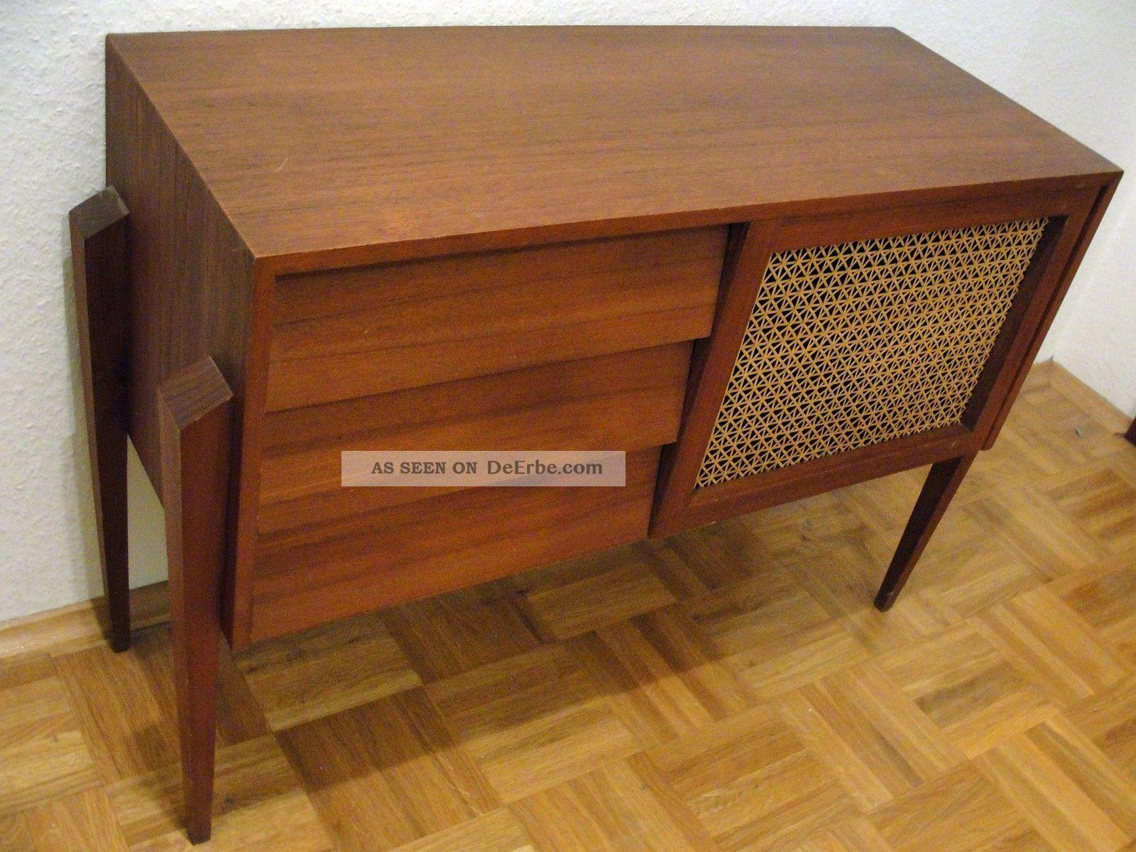 Teak schr nkchen kommode garderobe danish design orig 60er for Garderobe 60er design