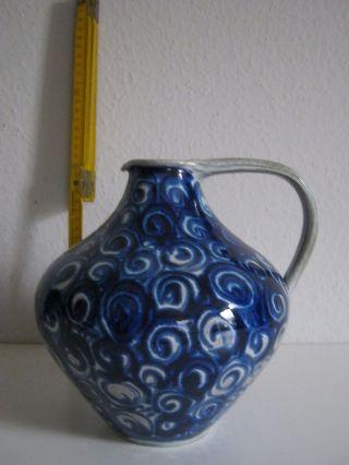 Henkelkrug Blau 60er Jahre E.  W.  Kuch Werkstätten Bild