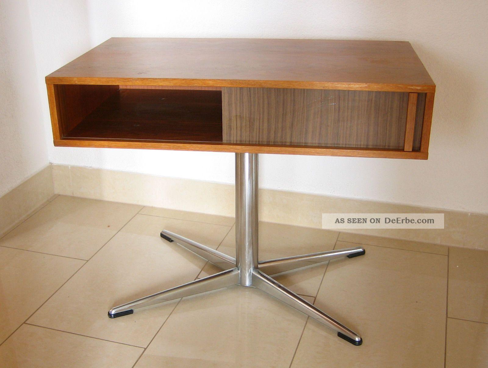 70er jahre chrom fernsehtisch fehrnsehschrank klassiker. Black Bedroom Furniture Sets. Home Design Ideas