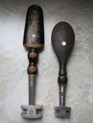 2 Alte Glasschneider Diamantschneider Um 1920 Bild