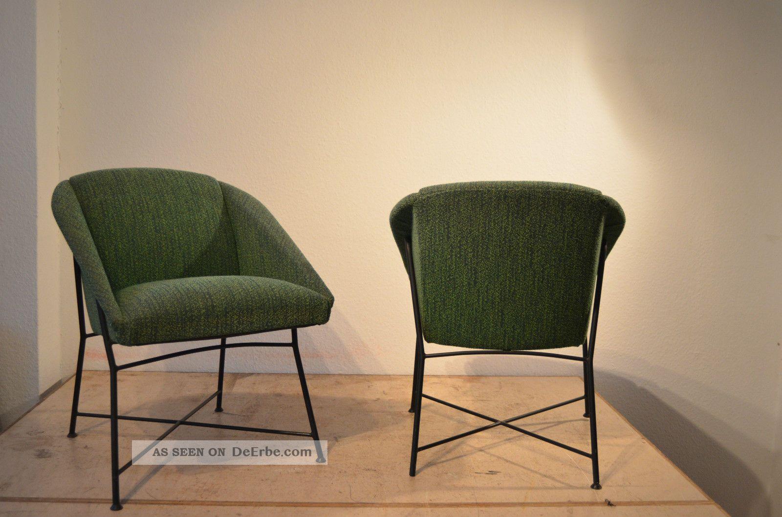 augusto bozzi lounge chairs sessel 50er saporiti design. Black Bedroom Furniture Sets. Home Design Ideas