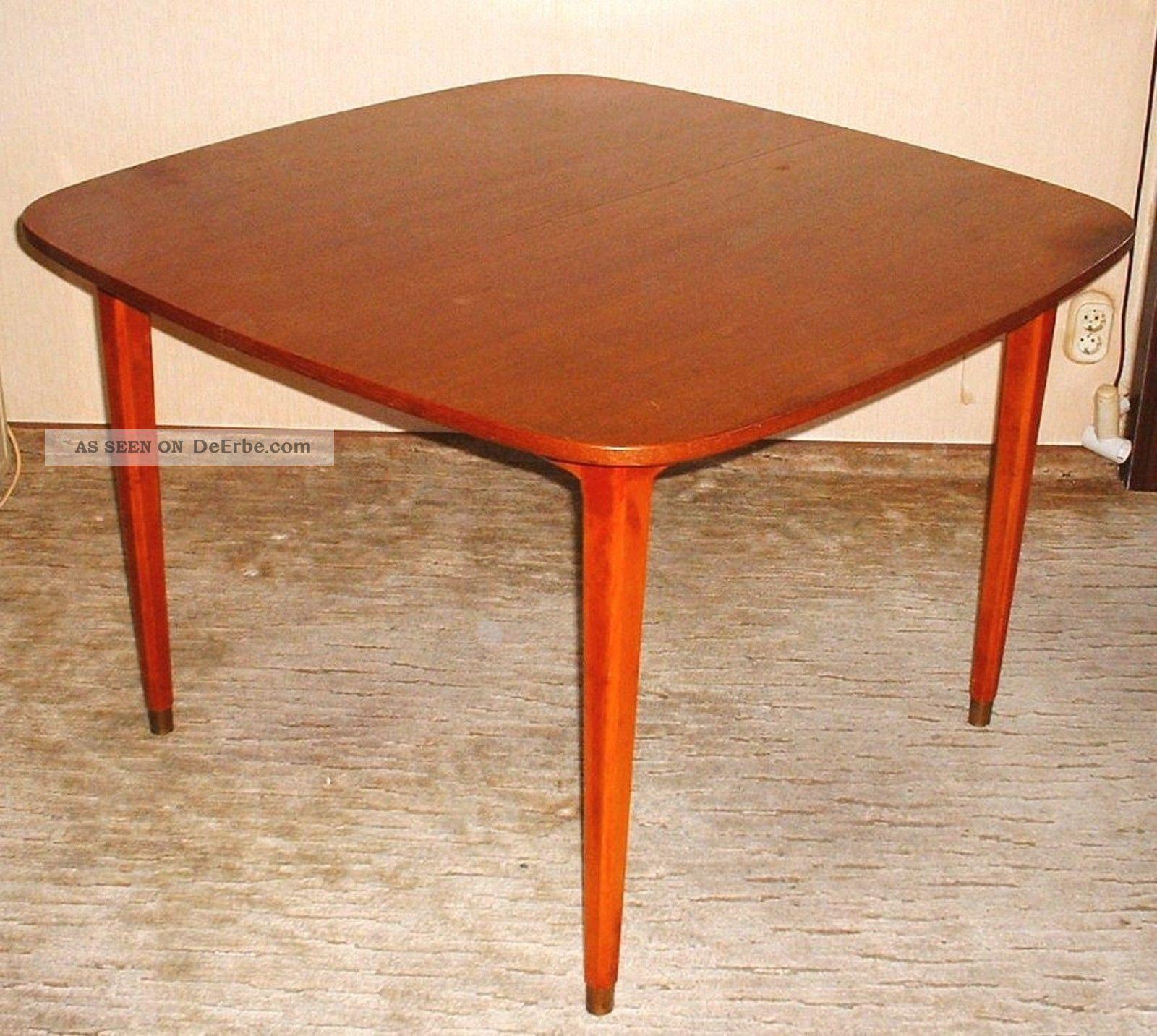 Orig 60er Jahre Teak Tisch Esstisch Auszietisch Mit 2 Platten