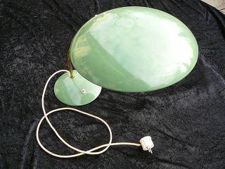 Alte Arbeitsleuchte Metall Grün Schreibtischlampe 50er 60er Jahre Vintage Bild