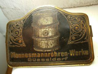 MannesmannrÖhren - Werke DÜsseldorf Papierhefter Metall Um 1900 Jugendstil BÜro Rr Bild