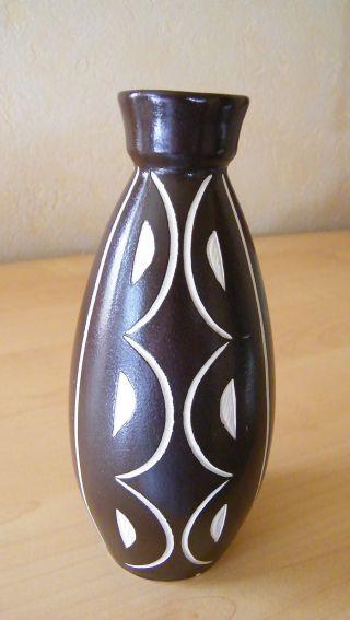 Keramik Vase Anton Piesche&reif Kamenz Um 1960 Ritzdekor (sgraffito Technik) 2 Bild