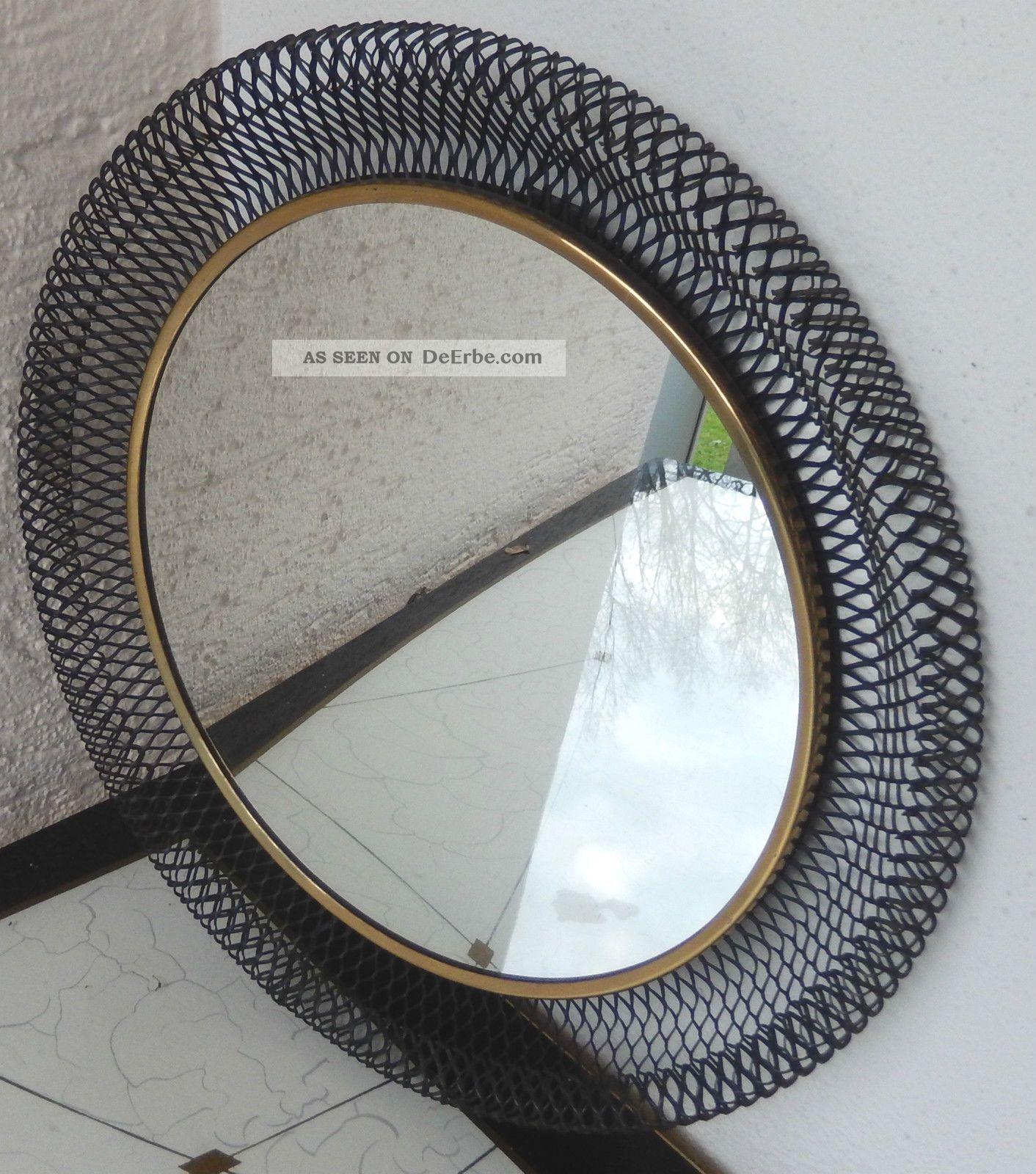 chicer alter 50er jahre vintage schminktisch spiegel mirror mit halterung. Black Bedroom Furniture Sets. Home Design Ideas