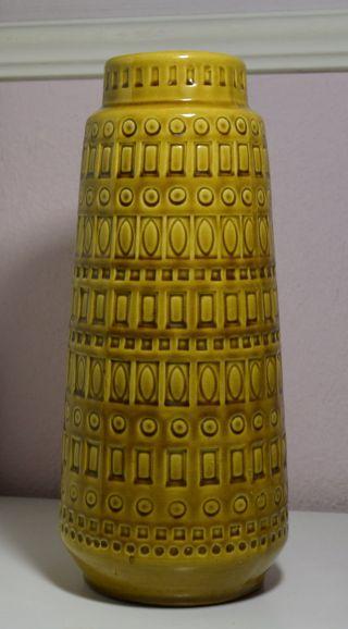 Scheurich Inka - Vase 260 - 30 H: 30cm Senf - Braun 60/70er Bild