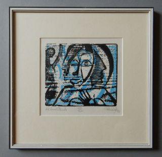 Günther Huniat Die Blaue Stunde,  Serigrafie 1986 Handsigniert & Nummeriert,  Ddr Bild