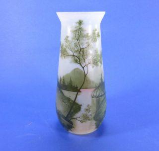 Bemalte Jugendstil / Art Nouveau Vase - Frankreich Um 1900 Bild