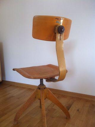 50er Jahre Ama Elastik Bürostuhl Chair - Eiermann,  Eames,  Jacobsen Bild