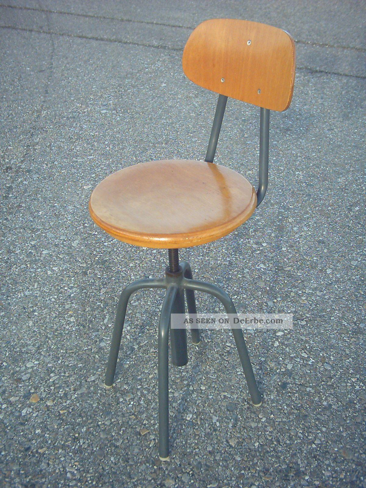 Stahlrohr stuhl drehstuhl industriestuhl werkstattstuhl for Stuhl stahlrohr