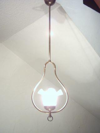 Originale Jugendstillampe Aus Alter Villa Um Ca.  1910,  Lampe,  Deckenlampe Bild