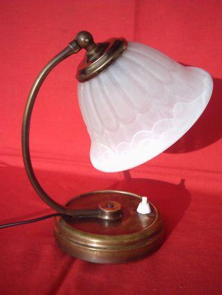 Originale Jugendstiltischlampe Bedside Lamp Jugendstil Lampe Tischlampe Ca.  1915 Bild