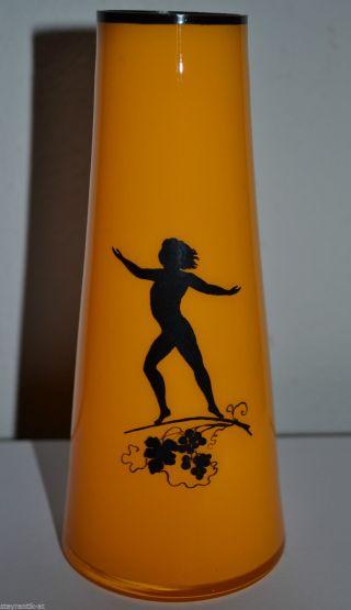 Jugendstil Loetz Tango Glas Vase TÄnzerin Emailmalerei Um 1915 / Michael Powolny Bild