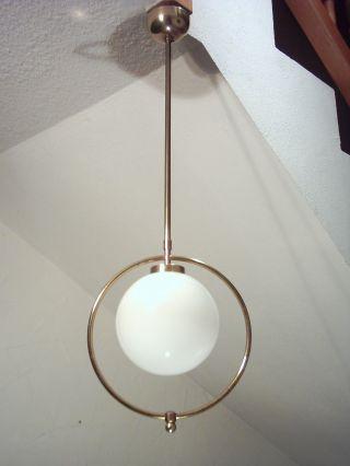Klassische Art Deco Deckenlampe,  Bauhaus,  Lampe,  Kugellampe,  Entw.  W.  Tümpel ? Bild