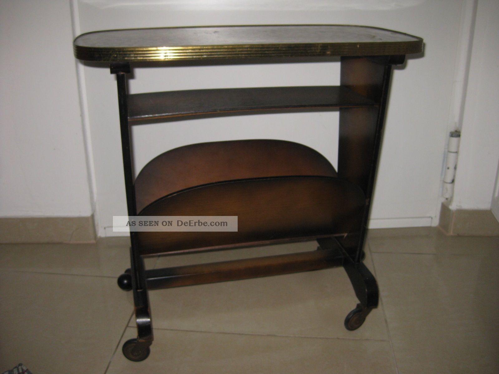 50er jahre zeitungstischchen beistelltisch auf rollen. Black Bedroom Furniture Sets. Home Design Ideas