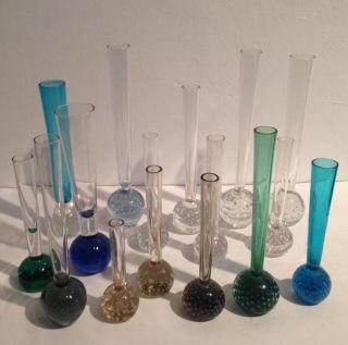 16 X Solifleur Vase 70s Glass Bubble Vase 70er Jahre Design Murano Kosta Venini Bild