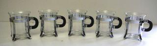 Bodum Kaffee Oder Teegläser 5 Stück Glas / Chrom Bild
