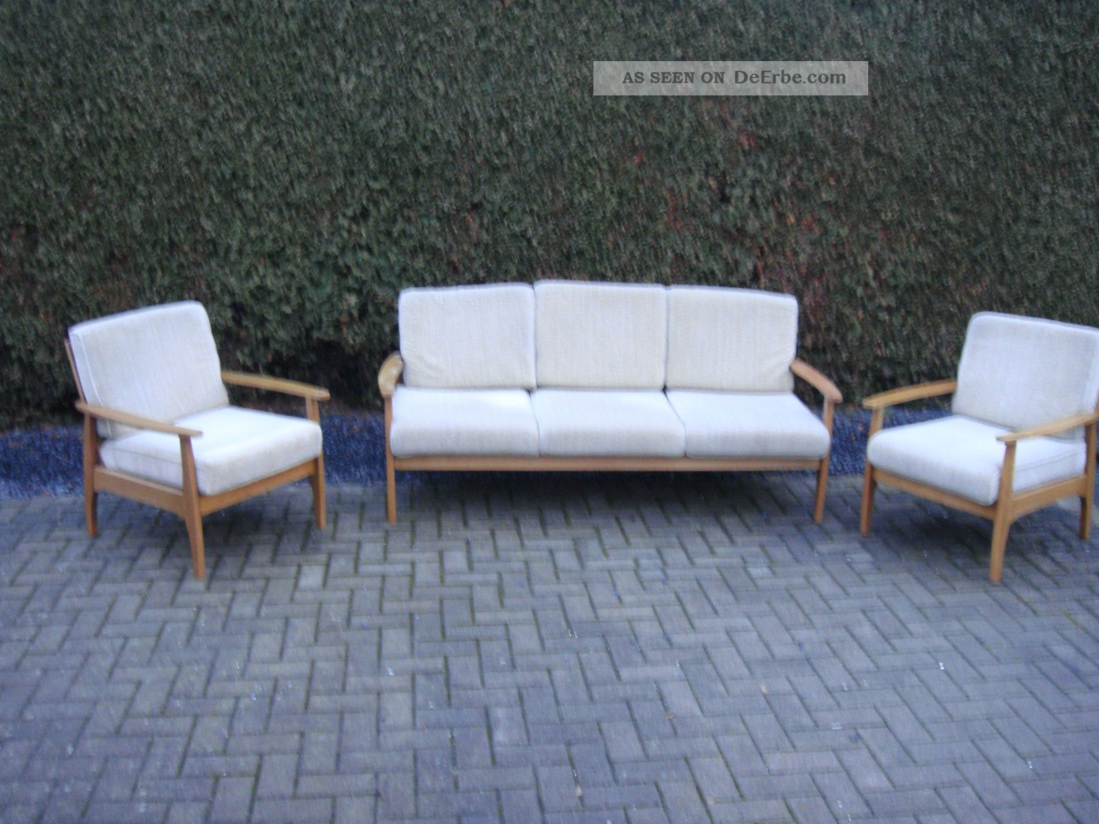 mid century sofagarnitur sofa 2x sessel danish design juhl jalk top. Black Bedroom Furniture Sets. Home Design Ideas