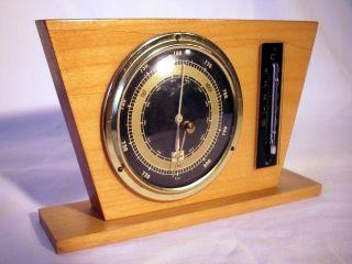 Alte Wetterstation Hydrometer Thermometer Von Foerster Stylisches Design 50/60er Bild