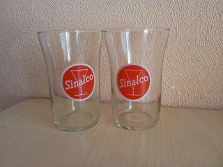 Alte Sinalco Gläser 2 Stück Originale 1950er Jahre Sammler Rarität Bild