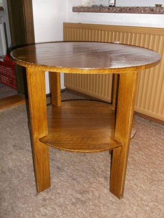 Alter Runder Tisch,  Beistelltisch,  Rauchertisch,  Clubtisch Bild