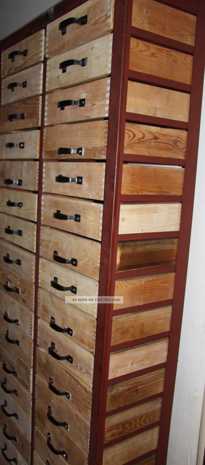 schubladenschrank schubladenregal loft werkzeugregal holz. Black Bedroom Furniture Sets. Home Design Ideas