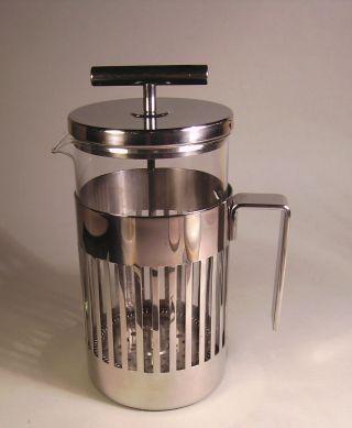 Kaffeebereiter Mit Pressfilter Für 8 Tassen Von Alessi/aldo Rossi Bild
