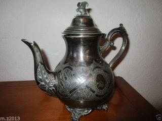 Hochwertige Kaffee/tee Kanne Silver Platet Silberauflage England Birmingha 1910 Bild