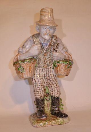 Kurt Feuerriegel Frohburg Sachsen Grosse Keramik - Skulptur Gärtner Art Deco (v3k) Bild