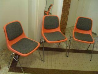 Mauser Modern Chair Stuhle Plastic 3 X - Rare Bild
