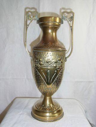 Jugendstil Vase,  Amphore Aus Messing Bild