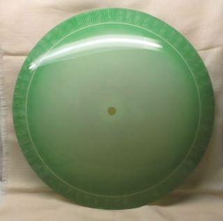 Großer Lampenteller 50er Jahre Glas Gewölbt D= 55cm Bild