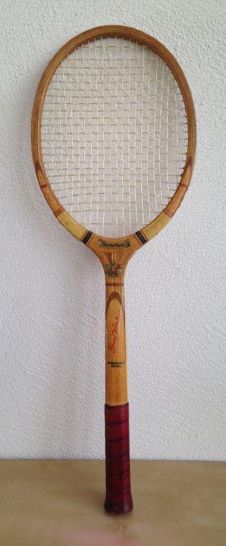 Antiker Tennisschläger Signatur Hans Nüsslein,  Heinrich Hammer,  Tournament Holz Bild