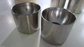 Allmodern 2 Kerzenhalter Stelton Dänemark Arne Jacobsen Edelstahl Candle Stick Bild