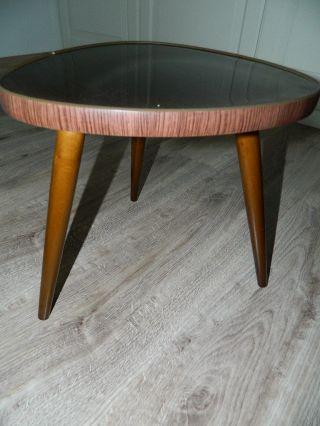 50er / 60er Rockabilly Tisch Nierentisch Ära Beistelltisch Zu Cocktailsessel Bild