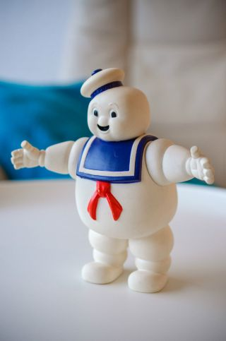 Stay Puft Marshmallow Man Ghostbusters Figur Columbia 1984 Kenner Spielzeug Top Bild