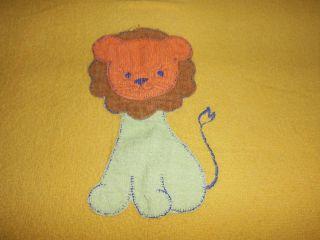Frottee Kinder Bettwäsche 70er Vintage Teddy Bär Gelb Baby Bedding 70s Lion Vtg. Bild