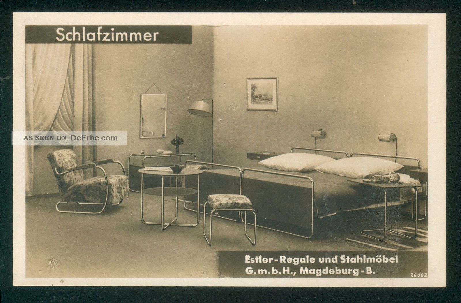 postkarte estler stahlrohr m bel ca 1930 magdeburg. Black Bedroom Furniture Sets. Home Design Ideas