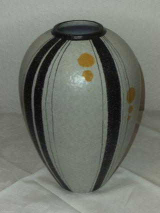 Große Ruscha Mid Century Vase Dekor Domino 50er J.  Handgemalt Bild