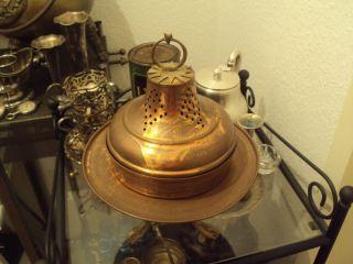 Alte Räucherschale Rauchgefäß Hexen Altar Messing Kupfer Jugendstil Rechaud Bild
