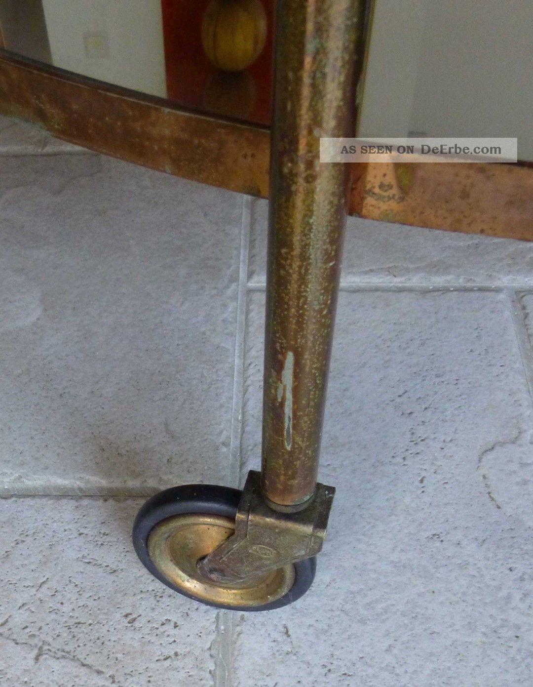 teewagen teetisch servierwagen 1920 1930 messing kupfer design klassiker. Black Bedroom Furniture Sets. Home Design Ideas