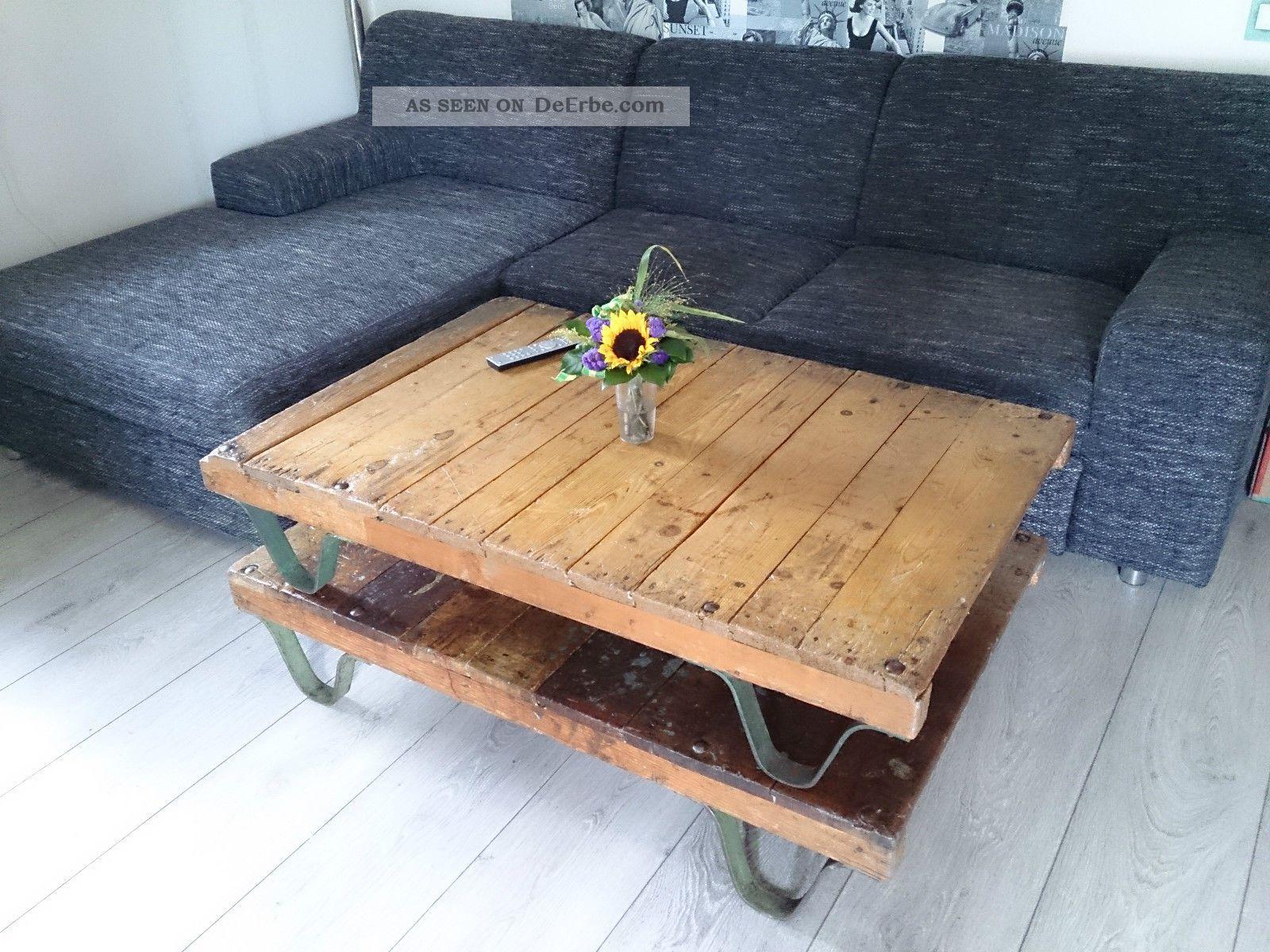 industrie design loft couchtisch antik transportwagen. Black Bedroom Furniture Sets. Home Design Ideas