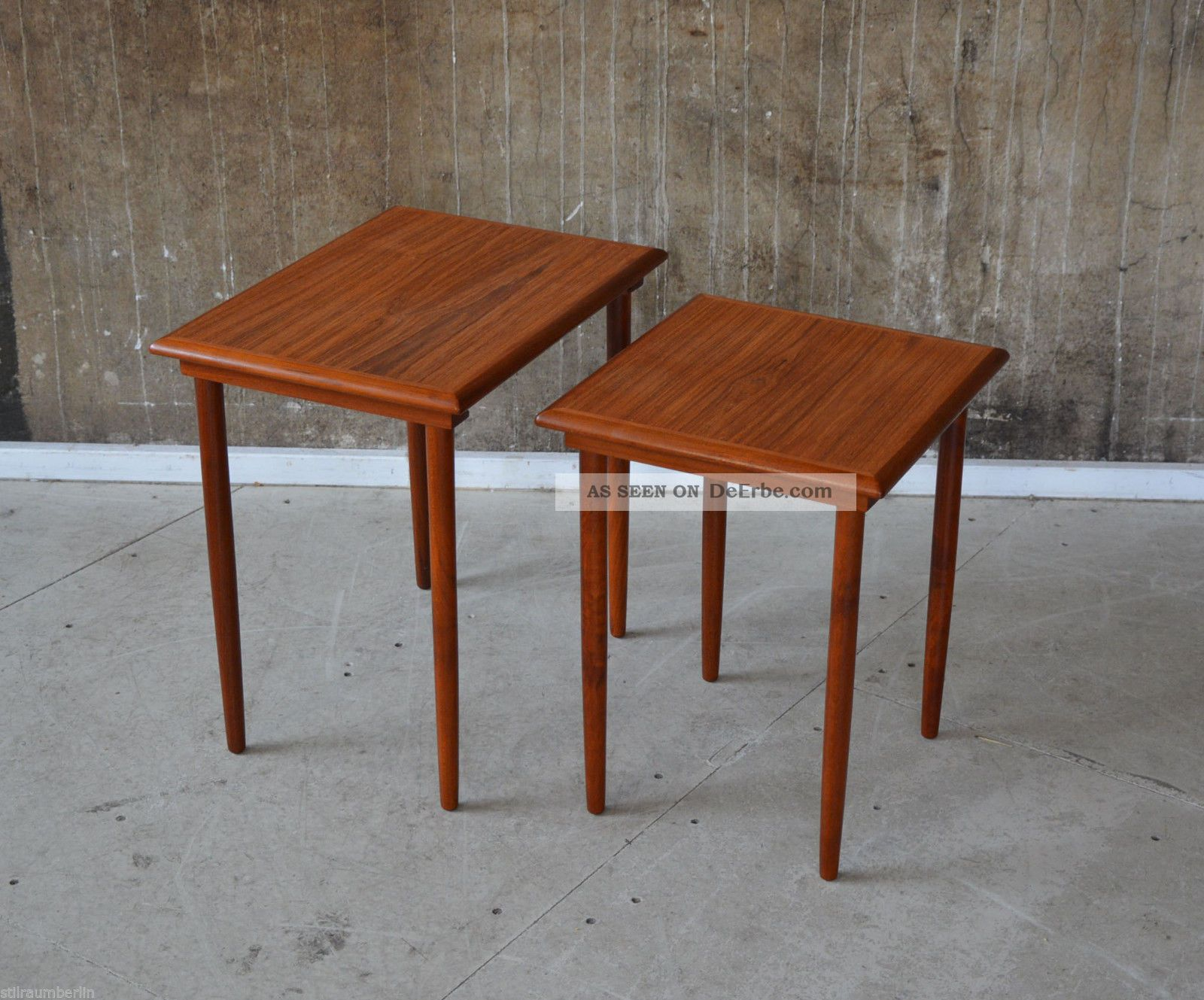60er teak satztische beistelltisch danish design 60s. Black Bedroom Furniture Sets. Home Design Ideas