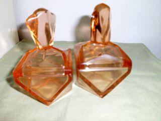 2 Deckeldöschen,  Rosalin Pressglas,  30er Jahre,  Vintage Bild