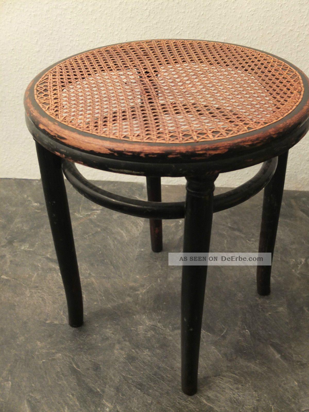 Thonet hocker mit geflecht kaffeehaus stuhl bugholz mit for Design stuhl geflecht