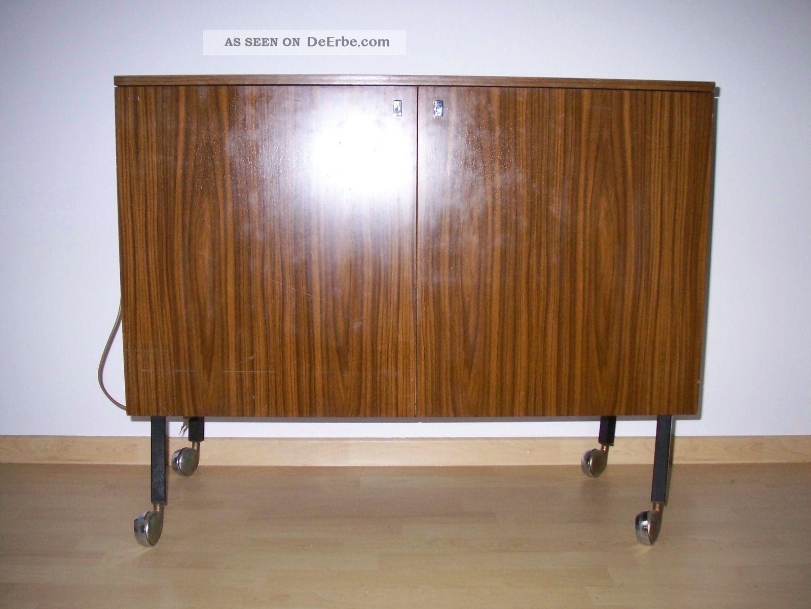 kommode mit k hlschrank minibar 50er 60er jahre. Black Bedroom Furniture Sets. Home Design Ideas