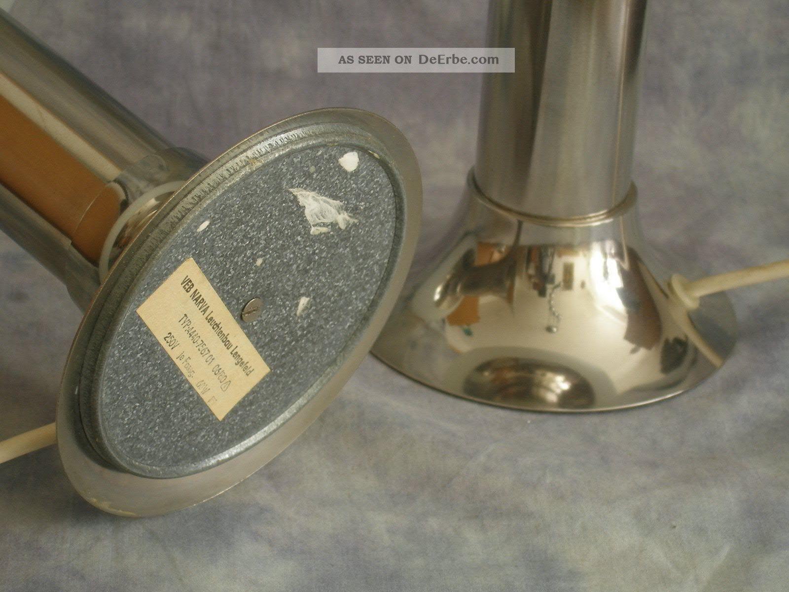 Lampenpaar Beistelllampen 70er Narva Gdr Ddr Space Age